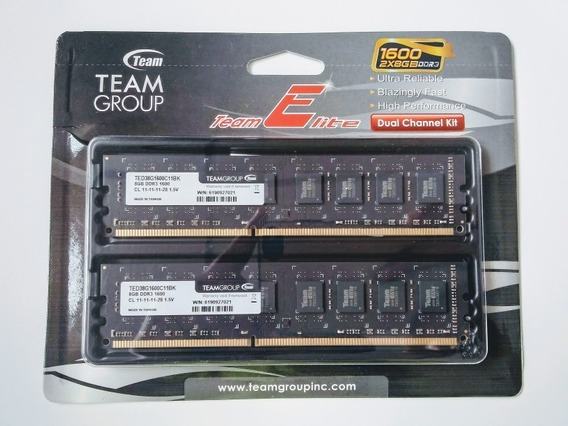 Memoria Ram Elite Teamgroup 16gb 8gbx2 1600mhz Ddr3 Para Pc