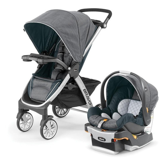 Chicco Carriola Bravo Travel System Poetic, Color Gris/verde