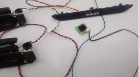 Kit Falantes Botão Power E Sensor Tv Philips 32phg4900/78
