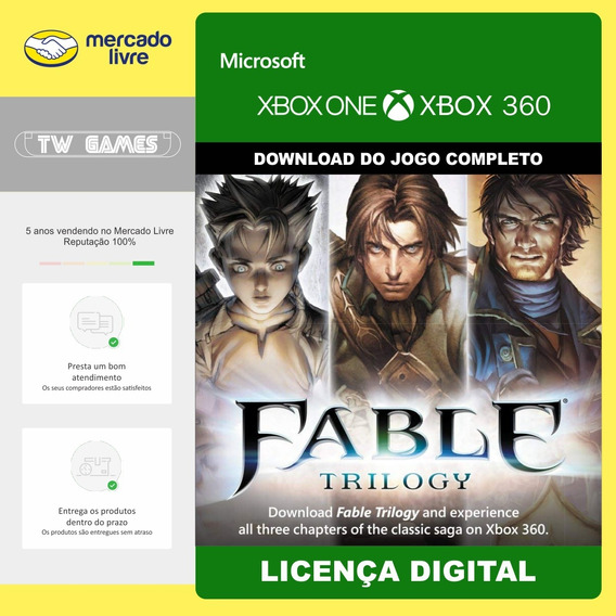 Pacote Fable Trilogy Anniversary 2 E 3 Digital Xbox One 360
