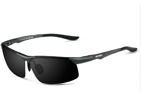 Óculos De Sol Masculino Estilo Aviador Lentes Polarizadas