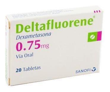 Dexametasona Deltafluorene 0.75mg Tabletas Caja X20tab. Sano