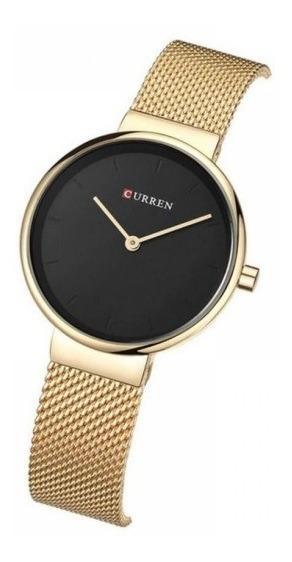 Relógio Feminino Original Dourado Curren Barato Promoção