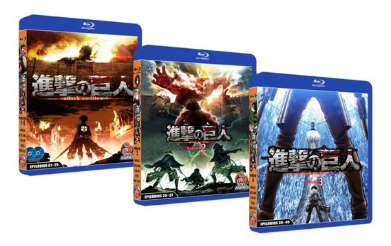 Bluray Shingeki No Kyojin Attack On Titan Completo