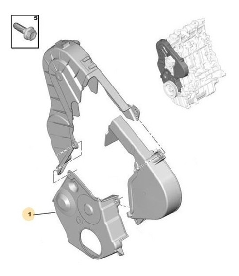 Tapa De Distribución Peugeot Partner 1.9 D