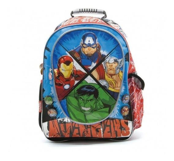 Mochila Avengers Original Cresko Escolar + Spinner + Lápiz
