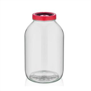 Frasco Tarro Pote 3 L Tapa Plástica Vidrio