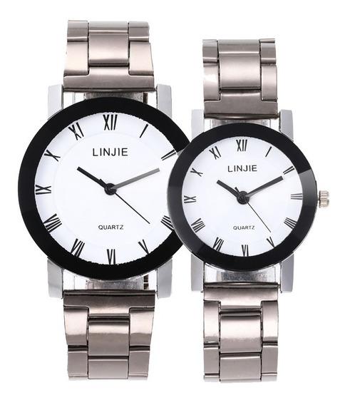 Duo Reloj Para Pareja Regalo Mujer Hombre Hermoso Moderno