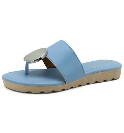 Sandália Rasteirinha Atron Shoes Macia E Confortável