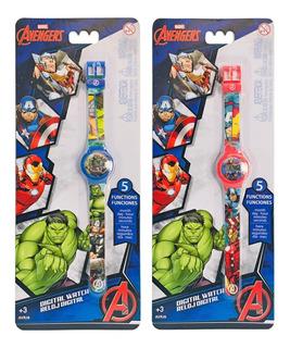 Reloj Digital Avengers Original Marvel Nuevo Avrj6 Bigshop