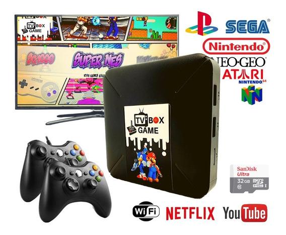 Retro Box Video Game Smart Emulador Com 2 Controles Xbox360