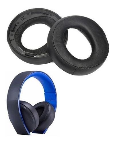 Almofadas Espumas Para Headset Sony Ps3 Ps4 Gold 7.1 Preto
