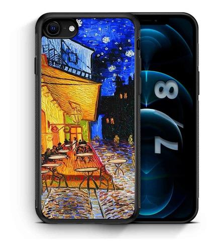 Imagen 1 de 1 de Funda iPhone 11 Terraza De Cafe Van Gogh Xsm Xr Xs 8 7 6 5
