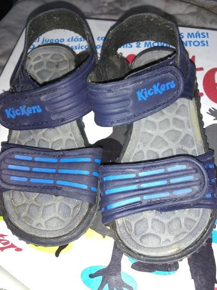 Ojotas Sandalia Kickers Azul