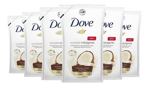Imagem 1 de 1 de Sabonete Dove Refil 200 Ml Nutrição Indulgente (06 Un)