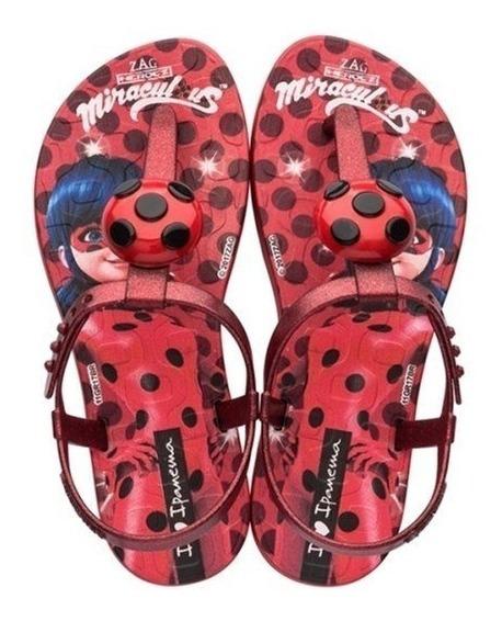 Sandalia Ladybug Chinelo Infantil Menina Promoção Ipanema