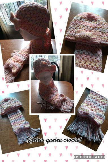 Conjuntos De Gorro Y Bufanda En Crochet