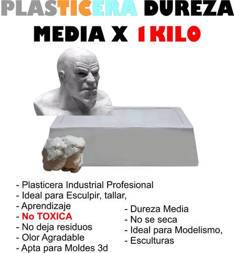 Plasticera Industrial Media Profesional X 1 Kilo Esculturas