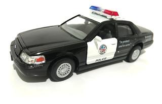 Carrinho Coleção Ford Crown Victoria Policia Kinsmart 1:42