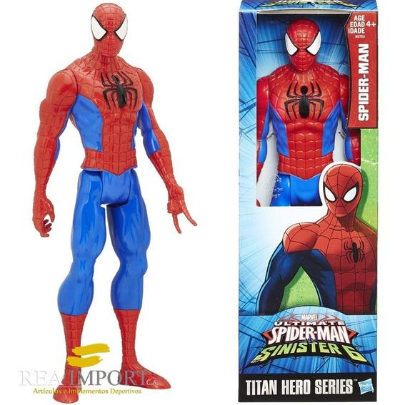 Muñeco Vengadores Spiderman 30cm Serie Titan Hero Hasbro
