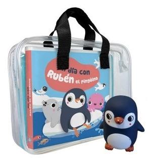 Un Dia Con Ruben El Pingüino - Libro De Baño + Juguete - Des