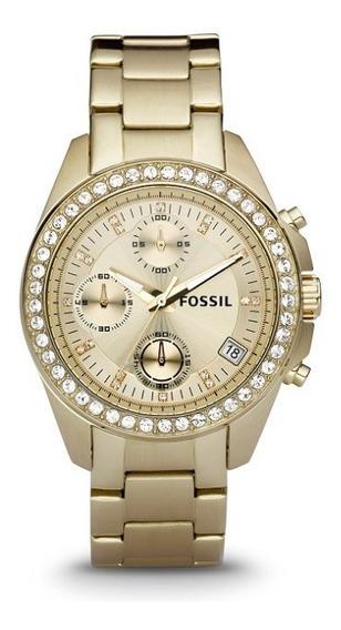 Relógio Fossil Es2683 Feminino Dourado