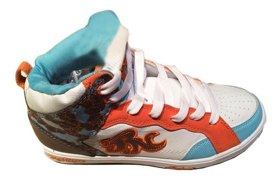 Zapatillas De Mujer Color Bco/naranja Leer Descripcion