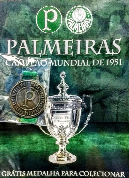 Revista Palmeiras Campeão Mundial De 1951 Com Medalha (novo)