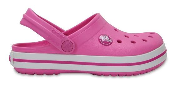 Zapato Crocs Unisex Infantil Crocband Kids Rosa Fuerte