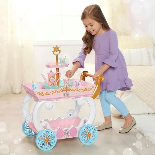 Carrito Mesita Juego De Te De Princesas Disney Para Niñas