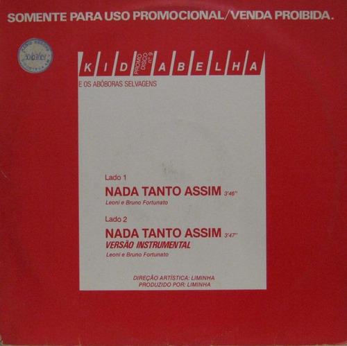 Imagem 1 de 1 de Lp Vinil 12 Kid Abelha Nada Tanto Assim Ed. 1984 Promo Raro