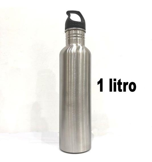 Botella Deportiva Alargada Cómoda Pico Ancho 1 Litro Alumini