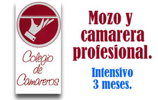 Curso De Mozo Y Camarera. Estudiá En Colegio De Camareros.