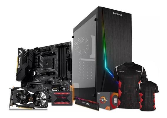 Computadora Pc Gamer Nvidia Geforce Gtx 1660 Ti Amd Ryzen 5 Ssd 240gb Ram 8gb 80+