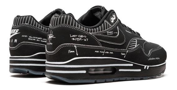 Nike Air Max 1 Tinker Black Schematic Sketch To Shelf