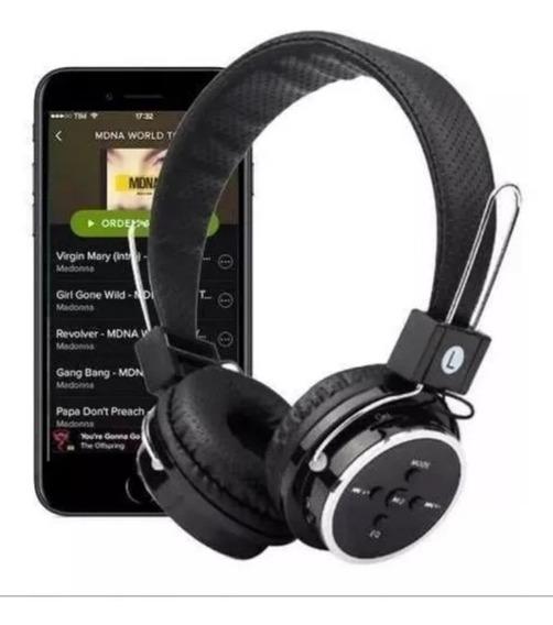 Fone Headphone Bluetooth, Fm, Cartão Memória E P2 Games Som