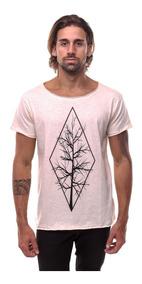 Camisetas Camisa Masculina Estampadas Gola Canoa