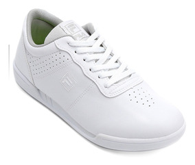 Tênis Feminino Fila F16 Low Comfort Camurça Branco Original