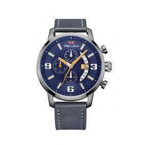 Relógio Masculino Cronógrafo Grafite Couro Pl80037612m