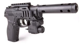 Pistola C11 Armas Co2 Crosman + Láser + Silenciador + Msi