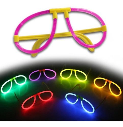 1d991eabd7 Gafas Luminosas Neón X3 Manillas Fiestas Hora Loca Colores