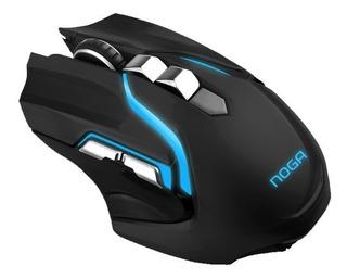 Mouse Gamer Noganet Hypnos Usb Dorado 3200 Dpi Premiun Royal