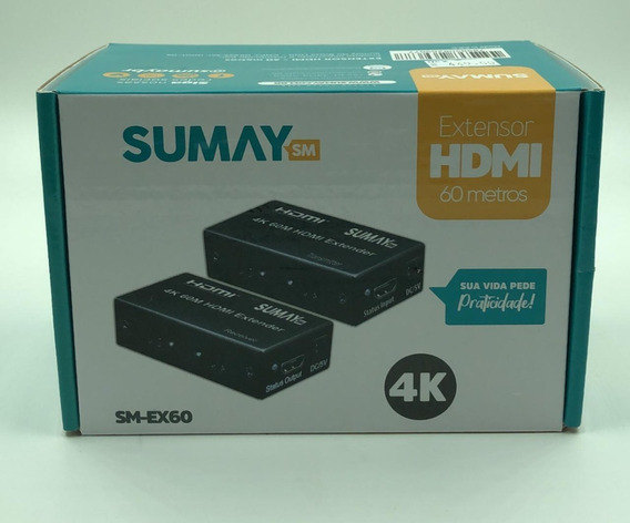Extensor Hdmi Sumay Sm-ex60 60mt 3d 4k Hispeed