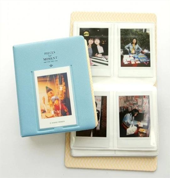 Album De Fotos Instax Mini 64 Fotos Polaroid Azul Marinho