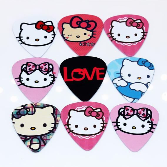 10 Palhetas Dupla Face Hello Kitty Personalizadas Violão