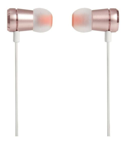 Fone De Ouvido Jbl T290 Intra Auricular Branco E Rosa