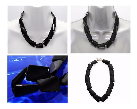 Collar Piedra Natural Joyería Dama Mujer Onix Bruto Ccpn111