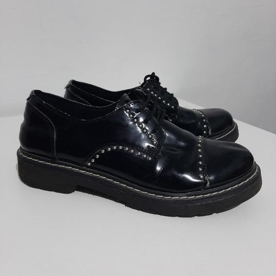 Zapatos Mujer Charol Negros Vestir Usados Talle 39