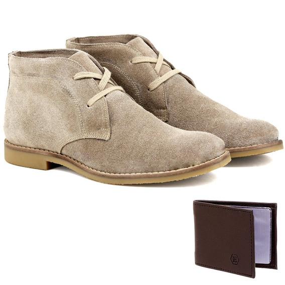 Botina Desert Boots Artesanal Franca - Sp Em Couro + Brinde