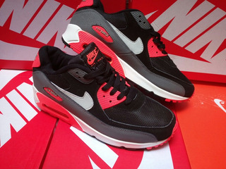 Nike Air Max 90 Hombre Negro con naranja | Elite Fashion